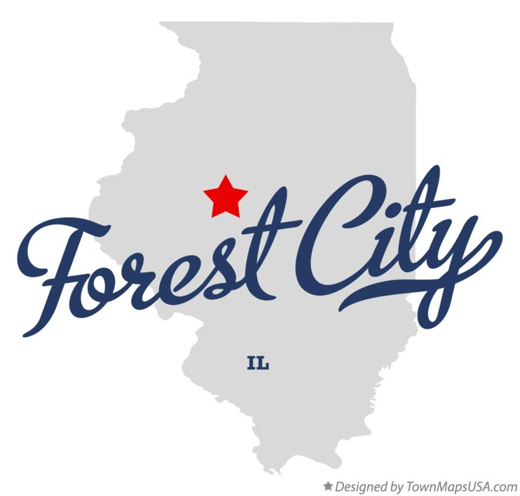 Map of Forest City Illinois IL