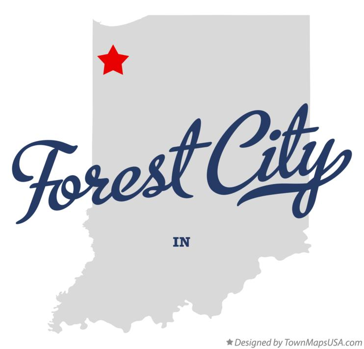 Map of Forest City Indiana IN