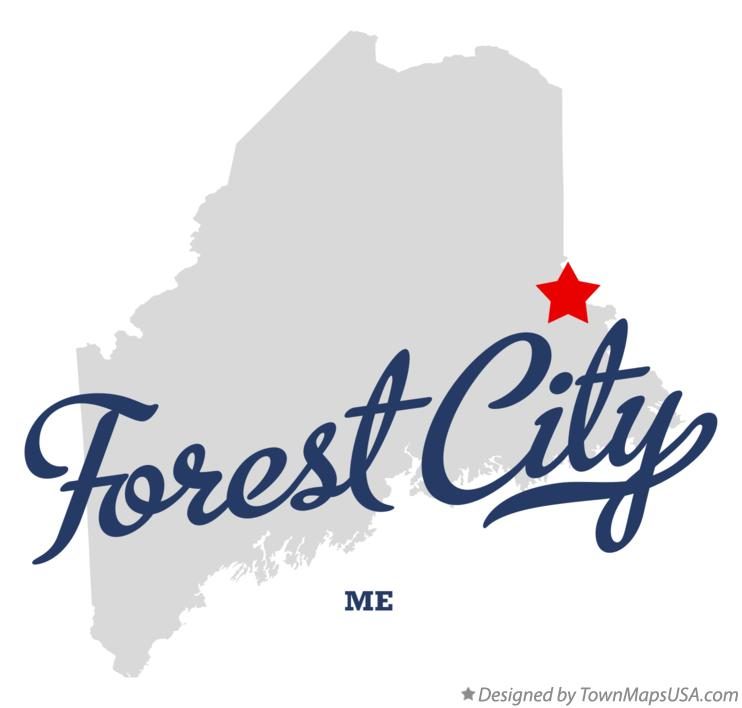 Map of Forest City Maine ME