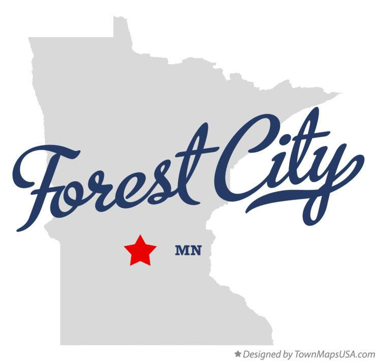 Map of Forest City Minnesota MN
