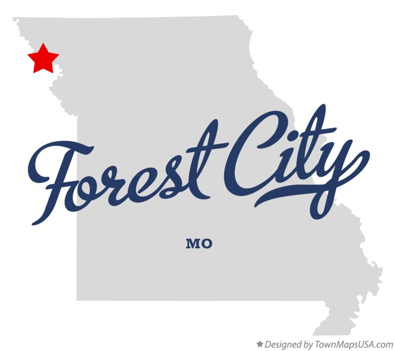 Map of Forest City Missouri MO