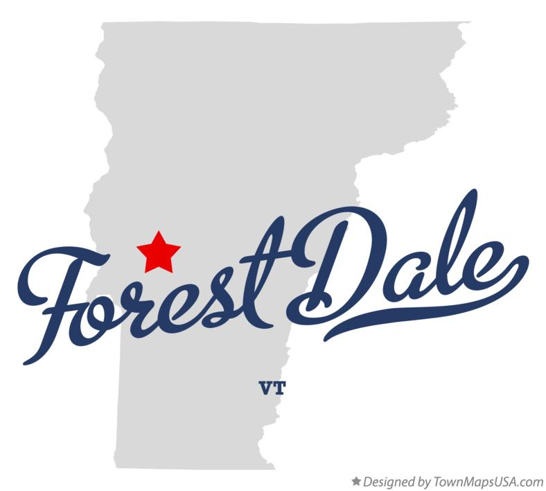 Map of Forest Dale Vermont VT