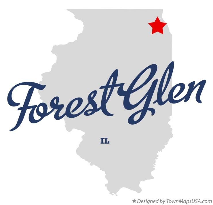 Map of Forest Glen Illinois IL