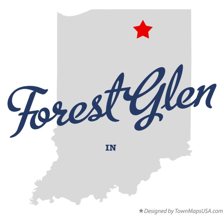 Map of Forest Glen Indiana IN