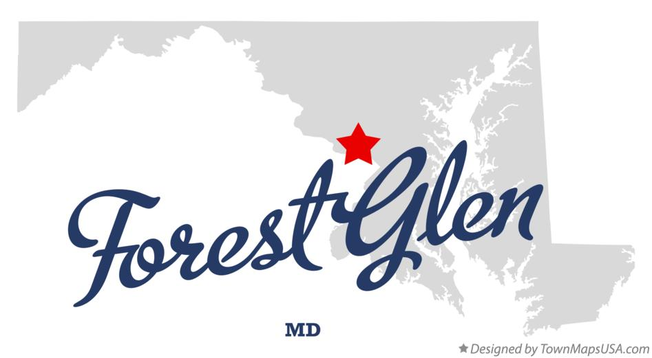 Map of Forest Glen Maryland MD