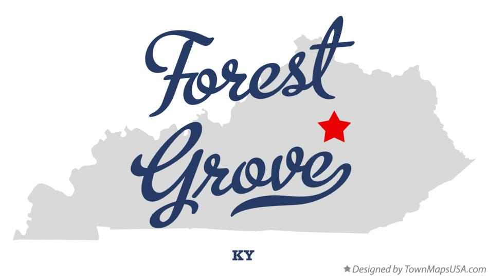 Map of Forest Grove Kentucky KY