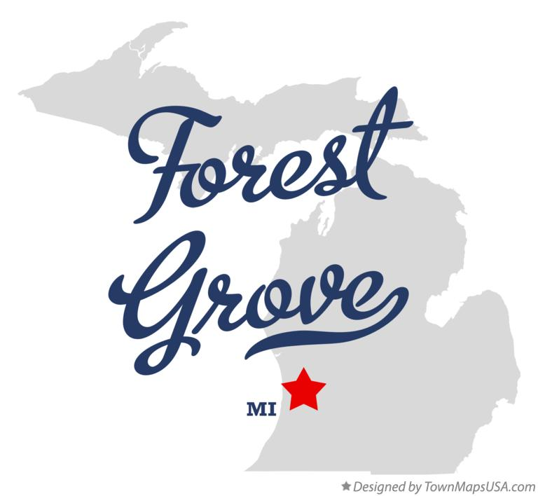 Map of Forest Grove Michigan MI