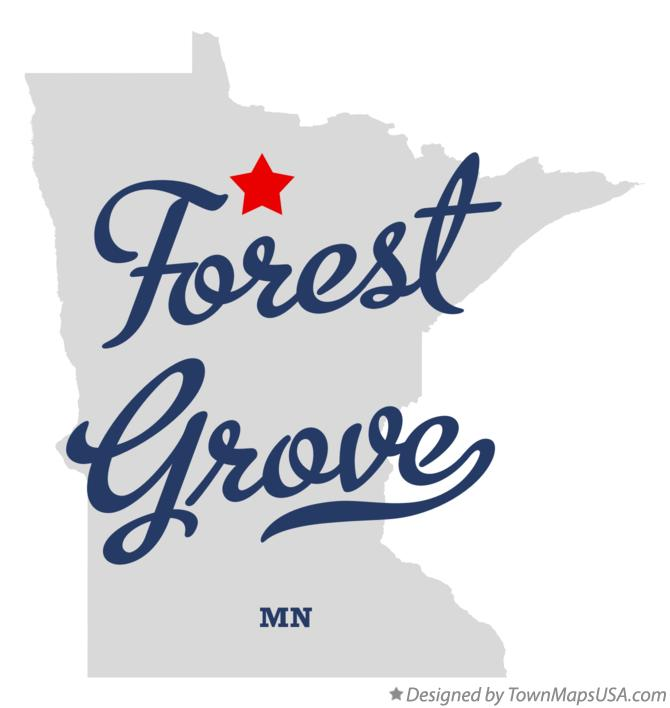 Map of Forest Grove Minnesota MN