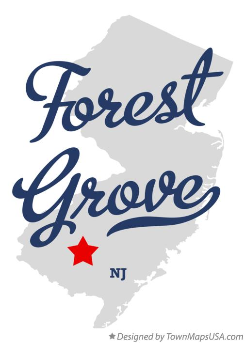 Map of Forest Grove New Jersey NJ