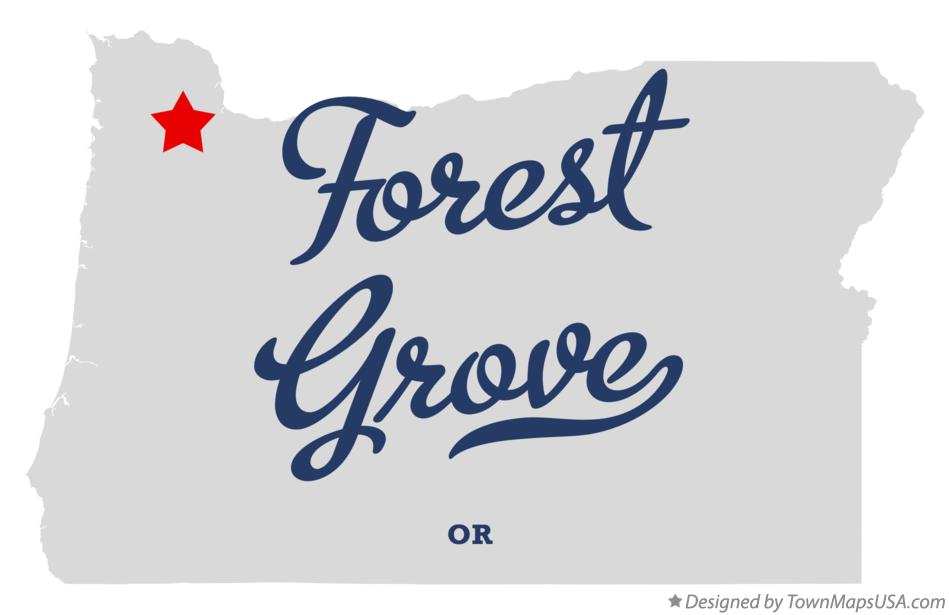 Map of Forest Grove Oregon OR