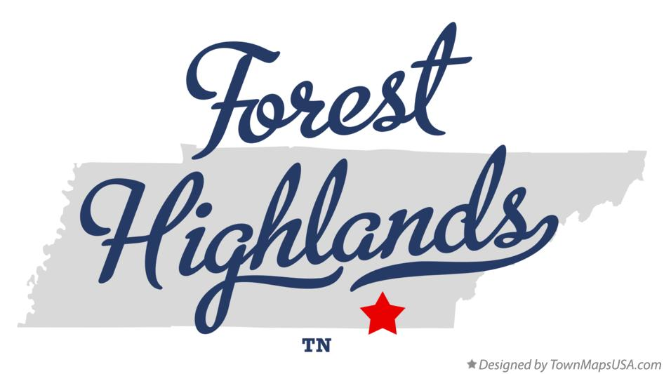 Map of Forest Highlands Tennessee TN