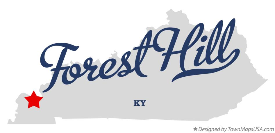Map of Forest Hill Kentucky KY