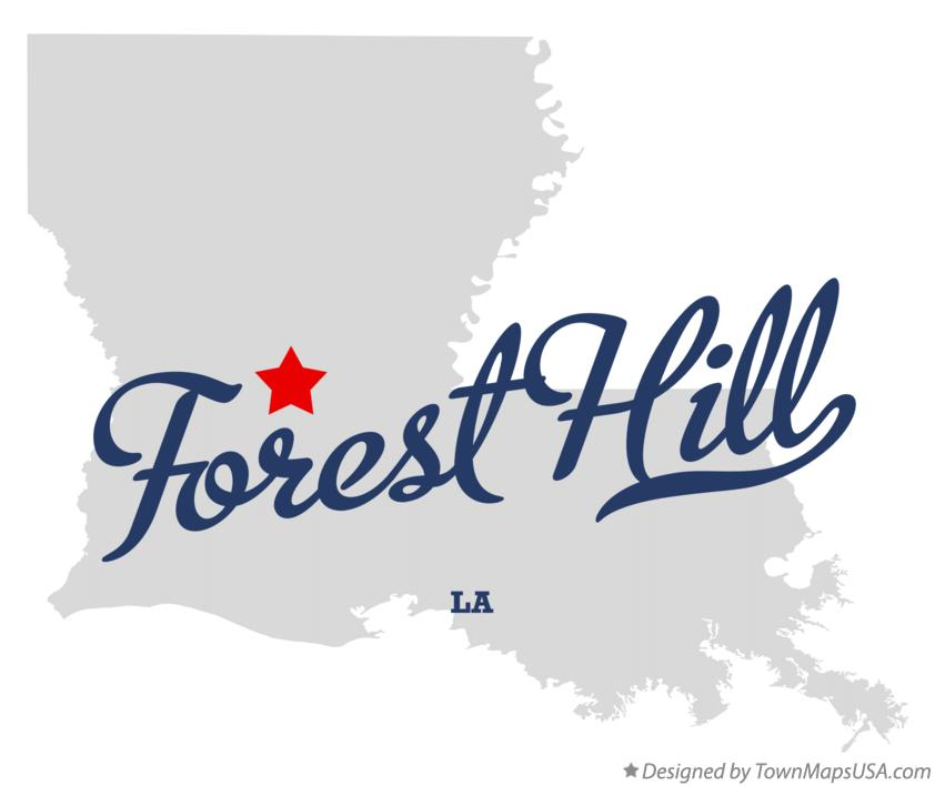 Map of Forest Hill Louisiana LA