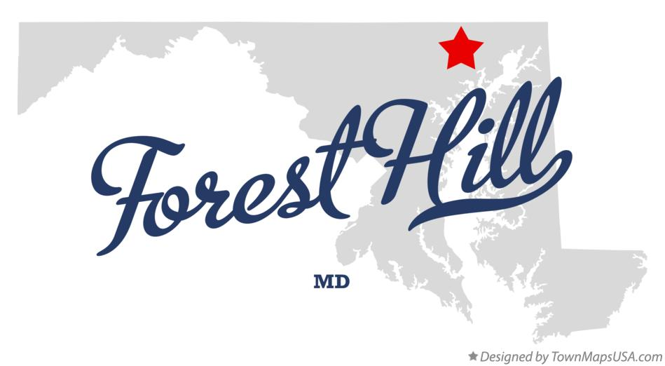 Map of Forest Hill Maryland MD