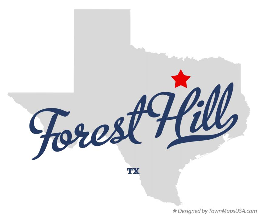 Map of Forest Hill Texas TX