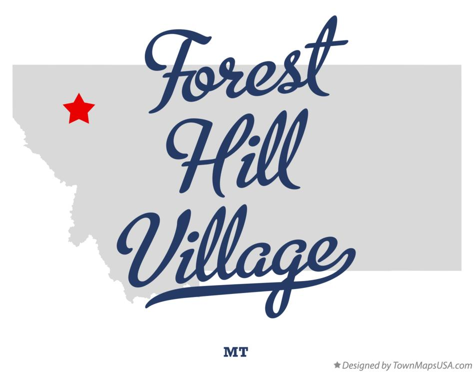 Map of Forest Hill Village Montana MT