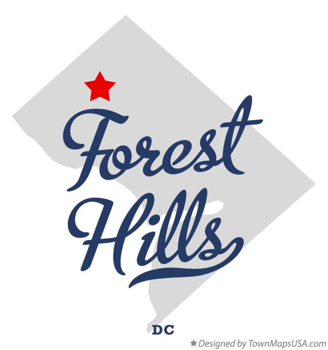 Map of Forest Hills District Of Columbia DC