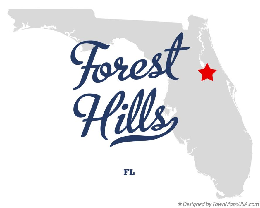 Map of Forest Hills Florida FL