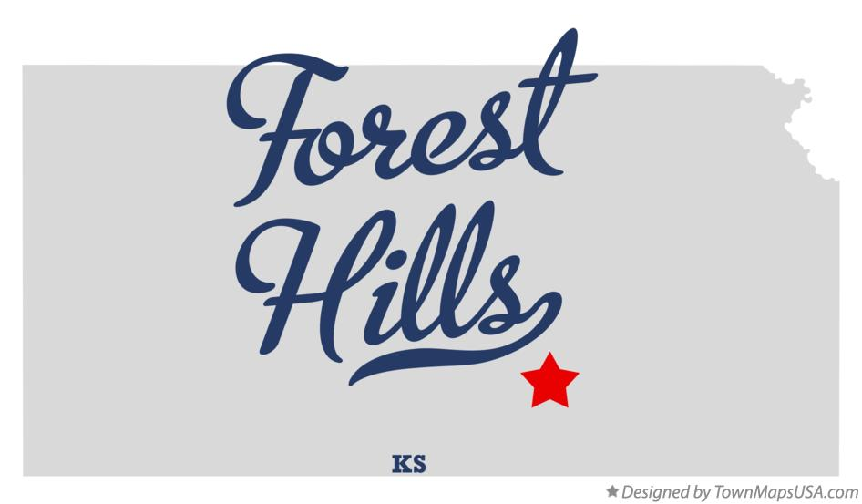 Map of Forest Hills Kansas KS