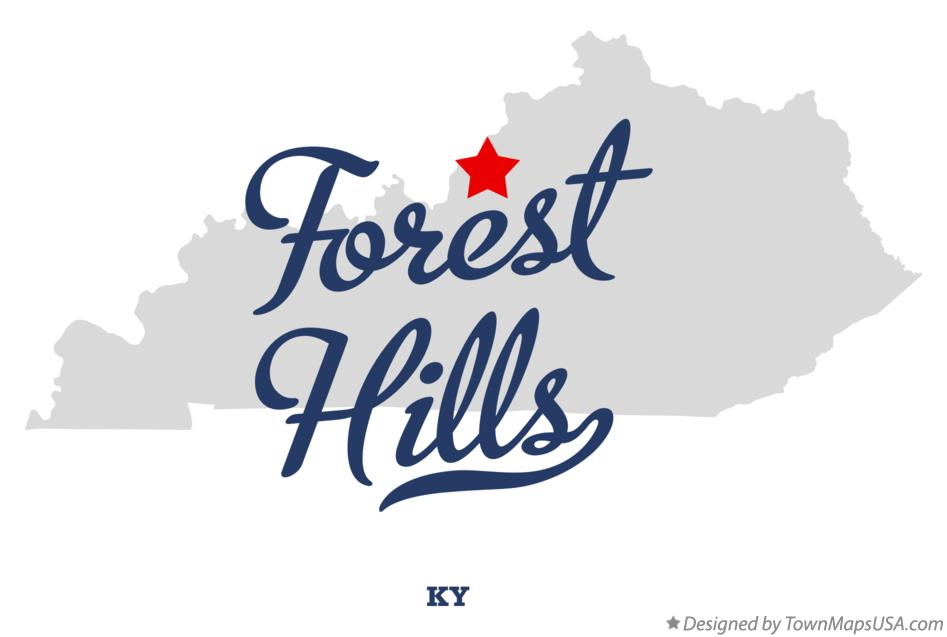 Map of Forest Hills Kentucky KY