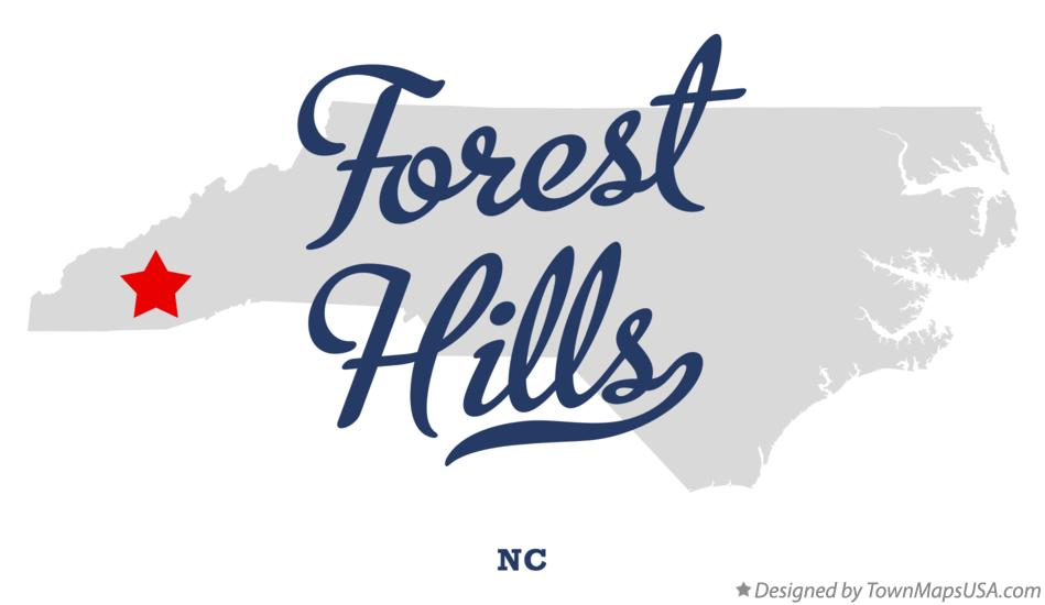 Map of Forest Hills North Carolina NC