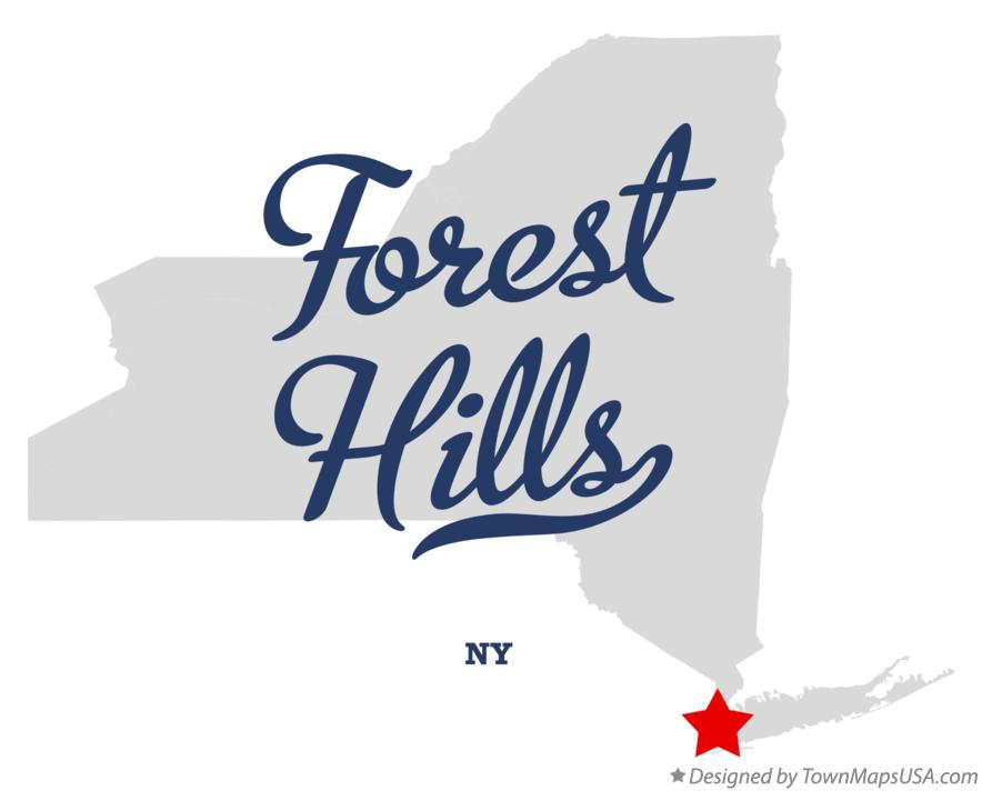 Map of Forest Hills New York NY