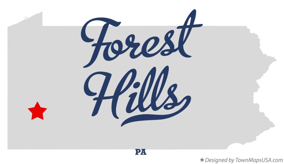 Map of Forest Hills Pennsylvania PA