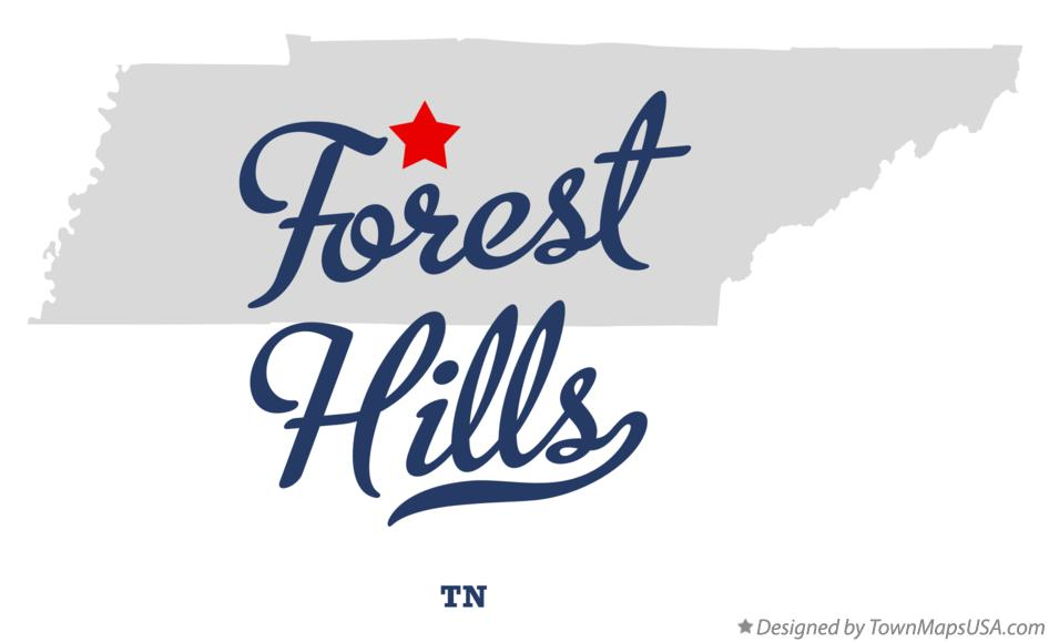 Map of Forest Hills Tennessee TN