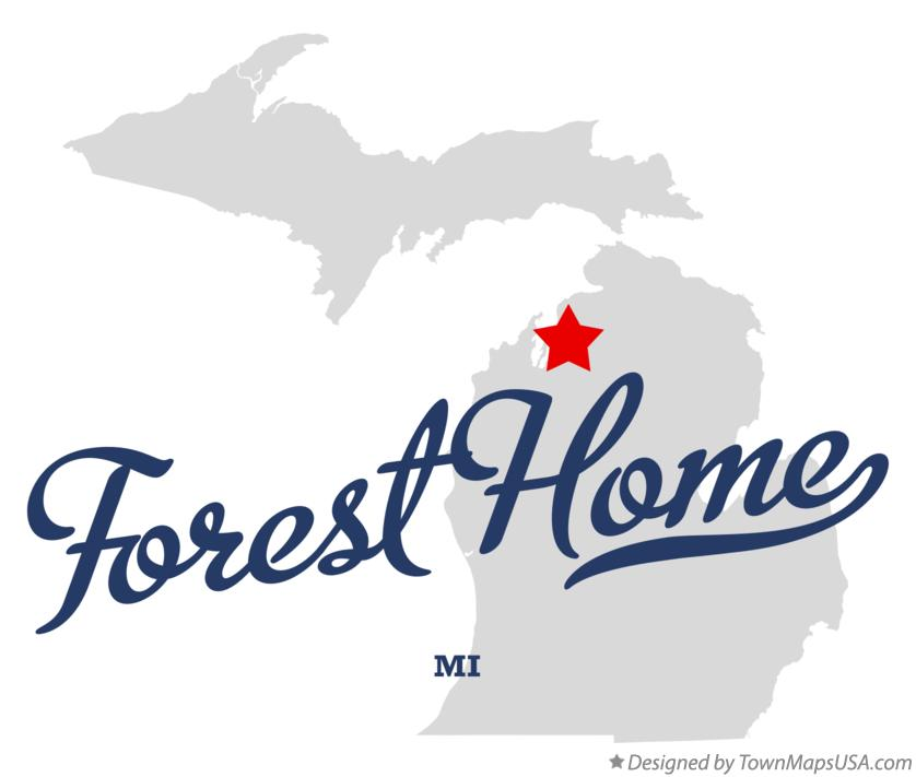 Map of Forest Home Michigan MI