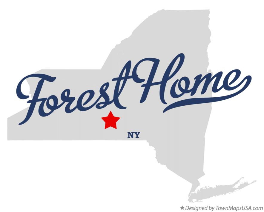 Map of Forest Home New York NY