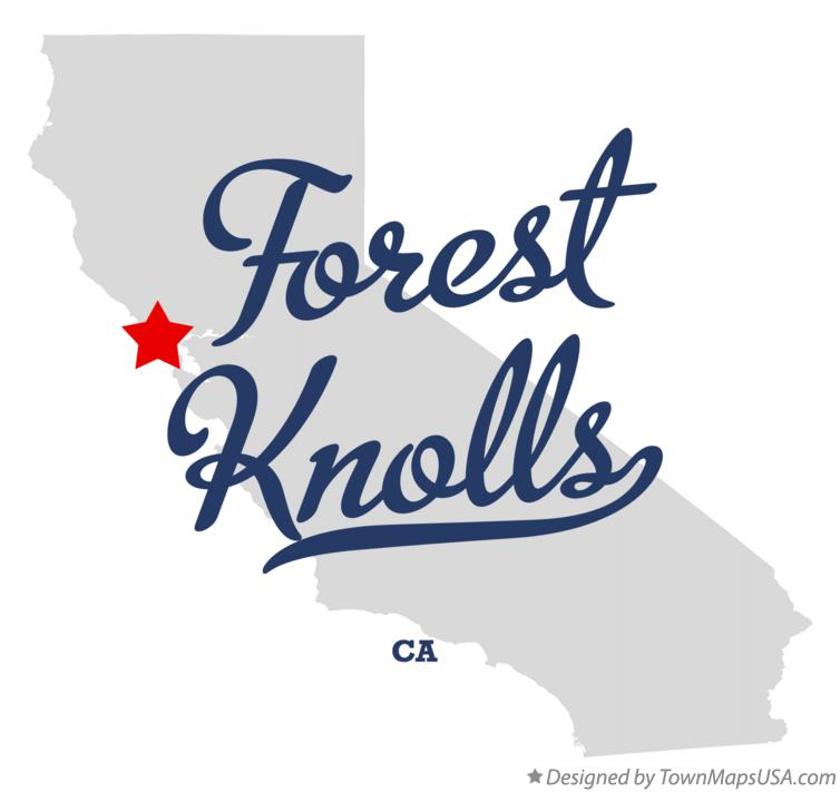 Map of Forest Knolls California CA