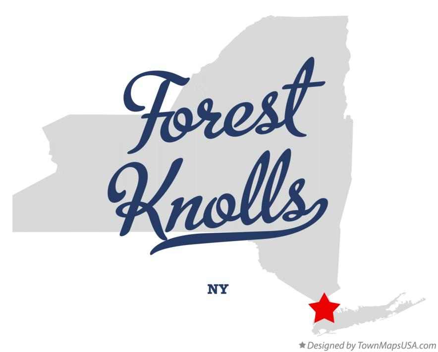 Map of Forest Knolls New York NY