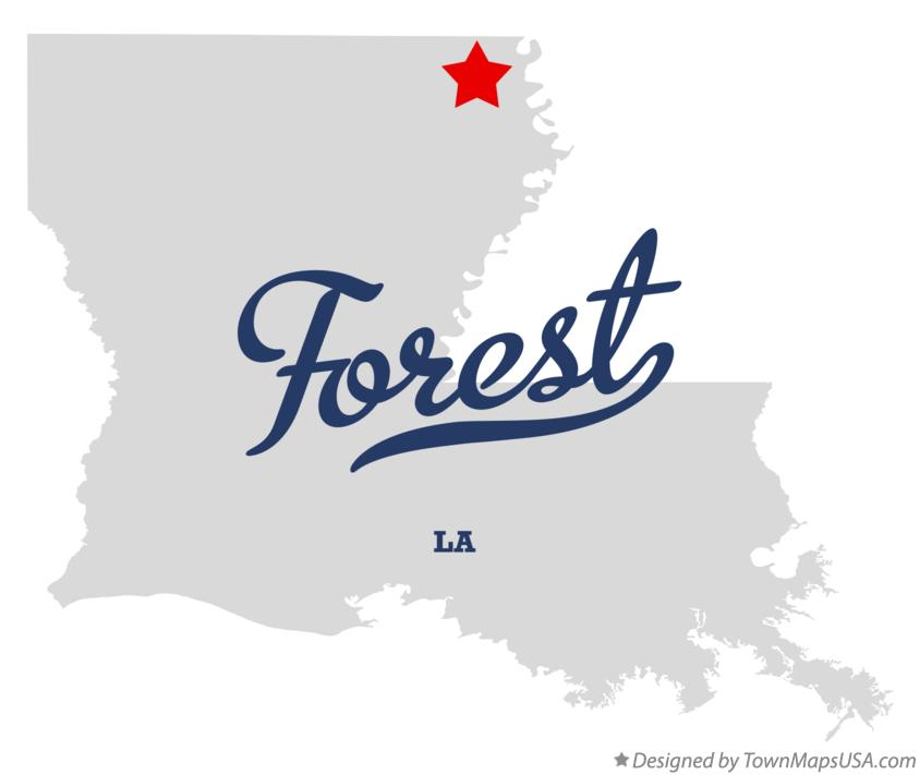 Map of Forest Louisiana LA