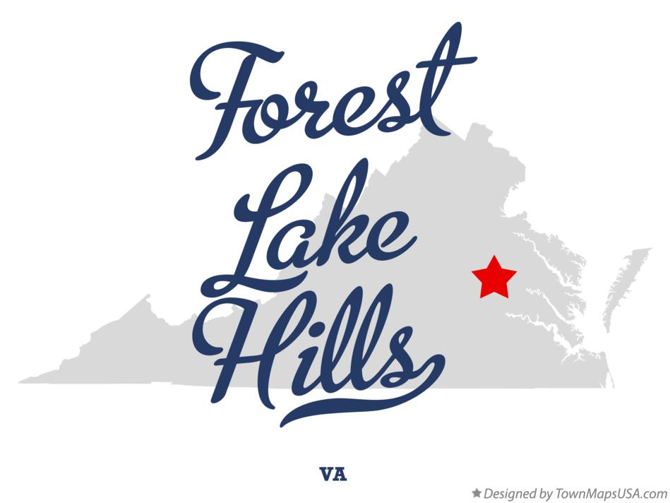 Map of Forest Lake Hills Virginia VA
