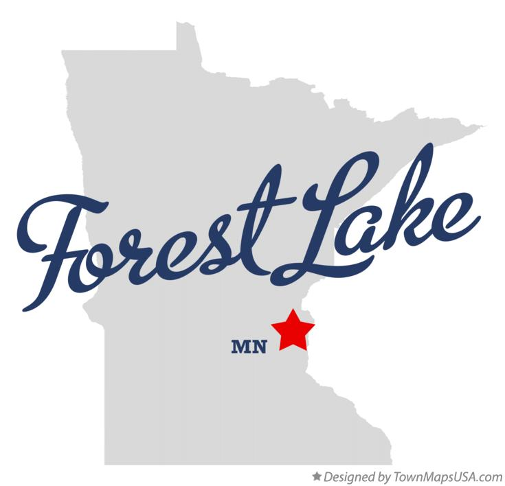 Map of Forest Lake Minnesota MN