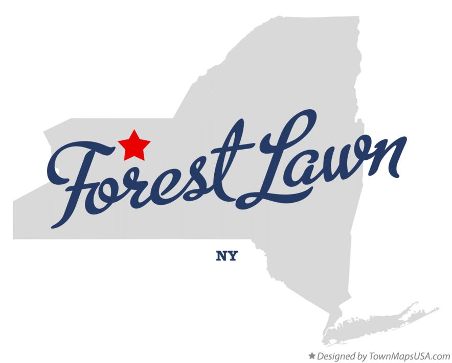Map of Forest Lawn New York NY