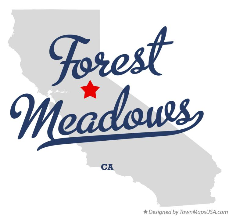 Map of Forest Meadows California CA