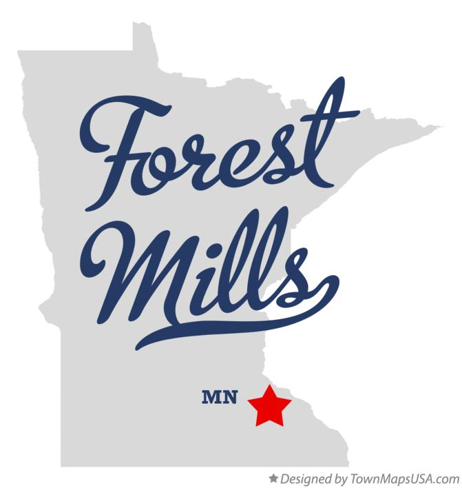Map of Forest Mills Minnesota MN