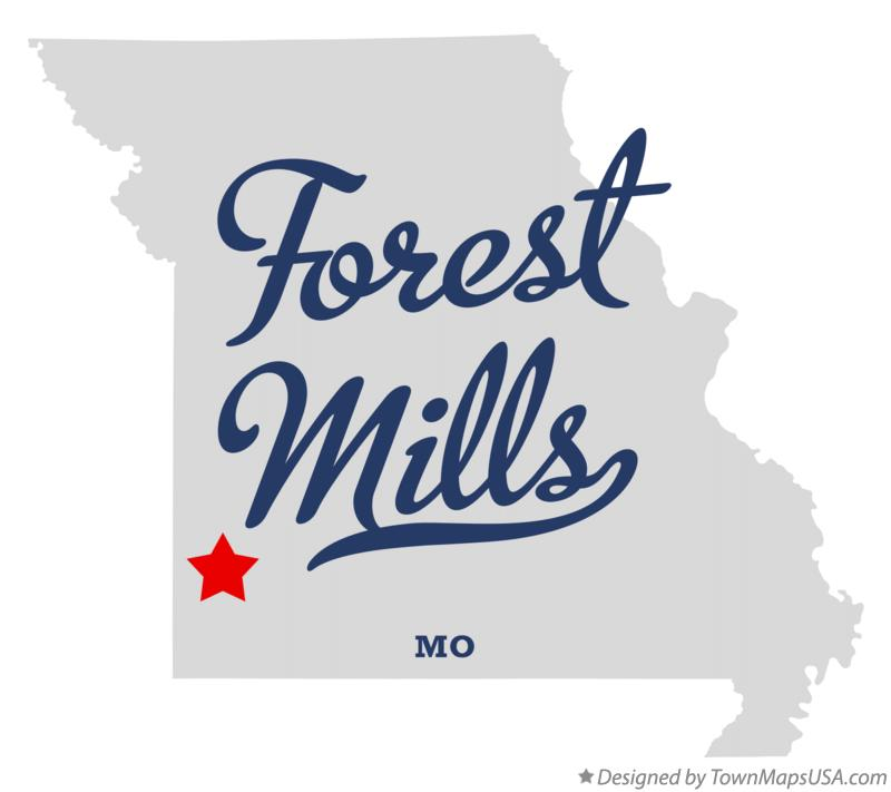 Map of Forest Mills Missouri MO