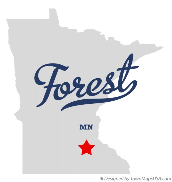Map of Forest Minnesota MN