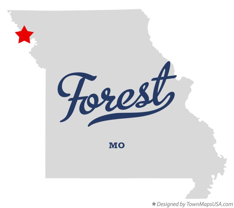 Map of Forest Missouri MO