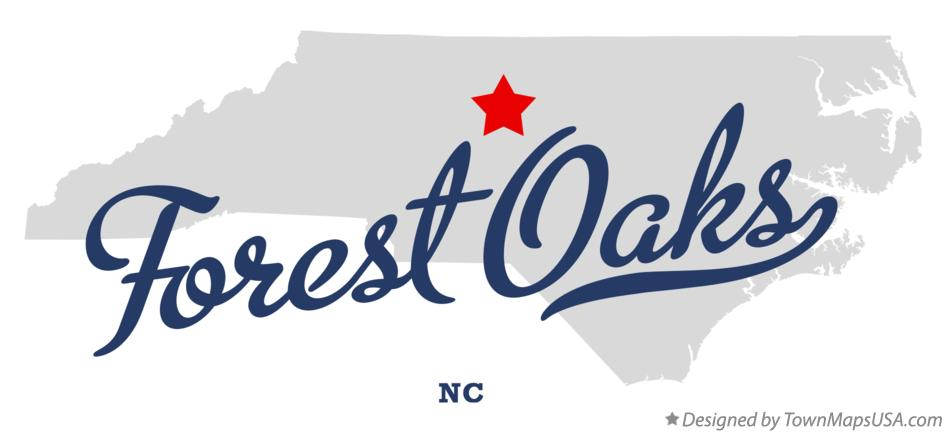 Map of Forest Oaks North Carolina NC