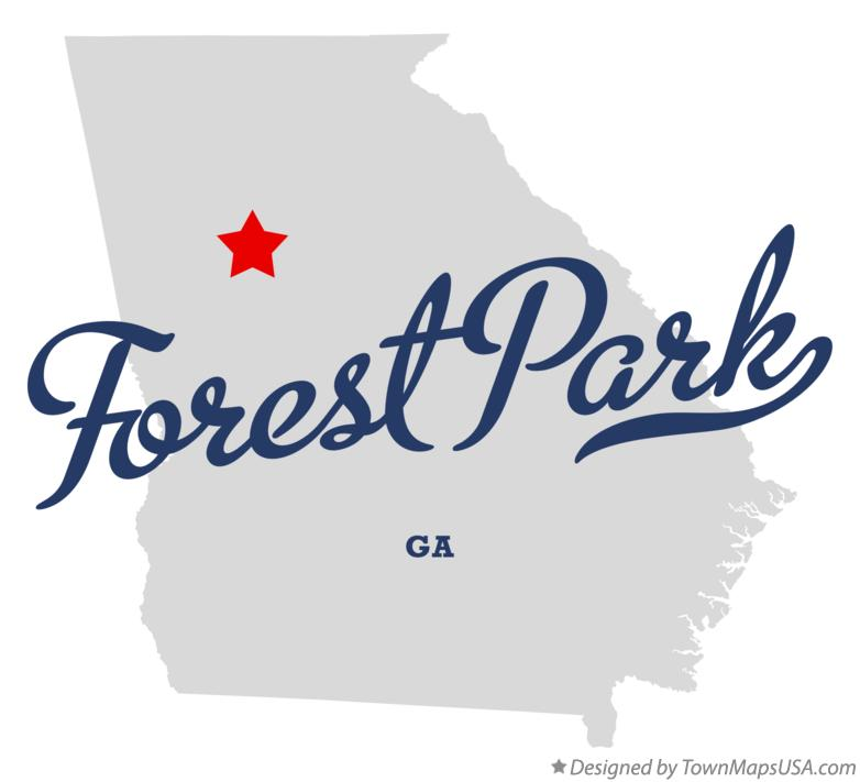 Map of forest park ga georgia map of forest park georgia ga sciox Choice Image