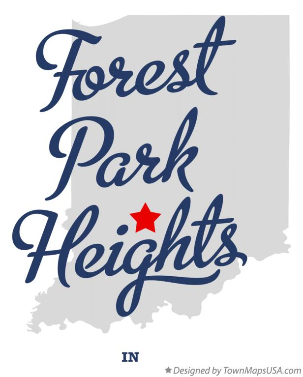 Map of Forest Park Heights Indiana IN