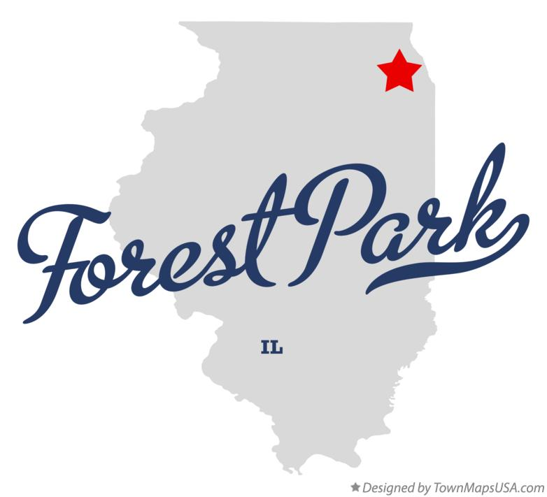 Map of Forest Park Illinois IL