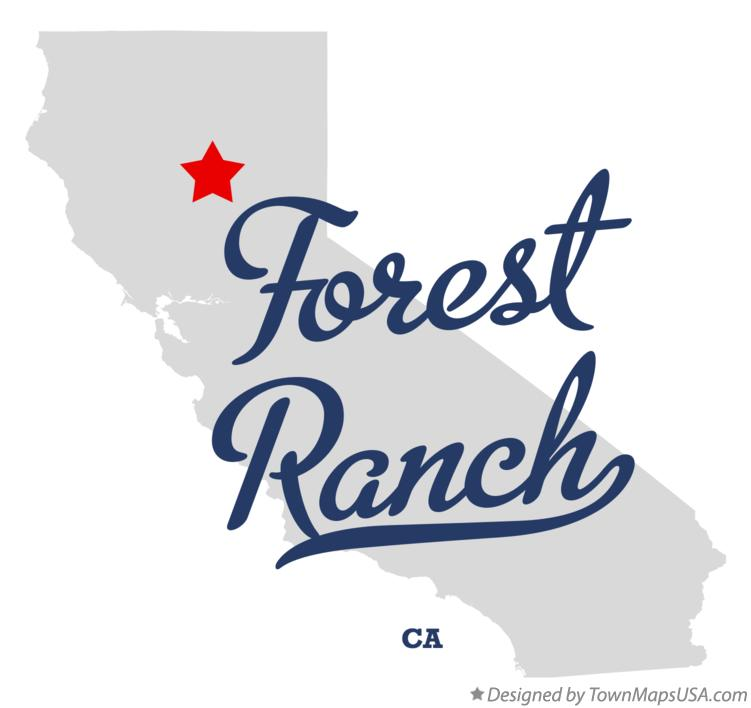 Map of Forest Ranch California CA