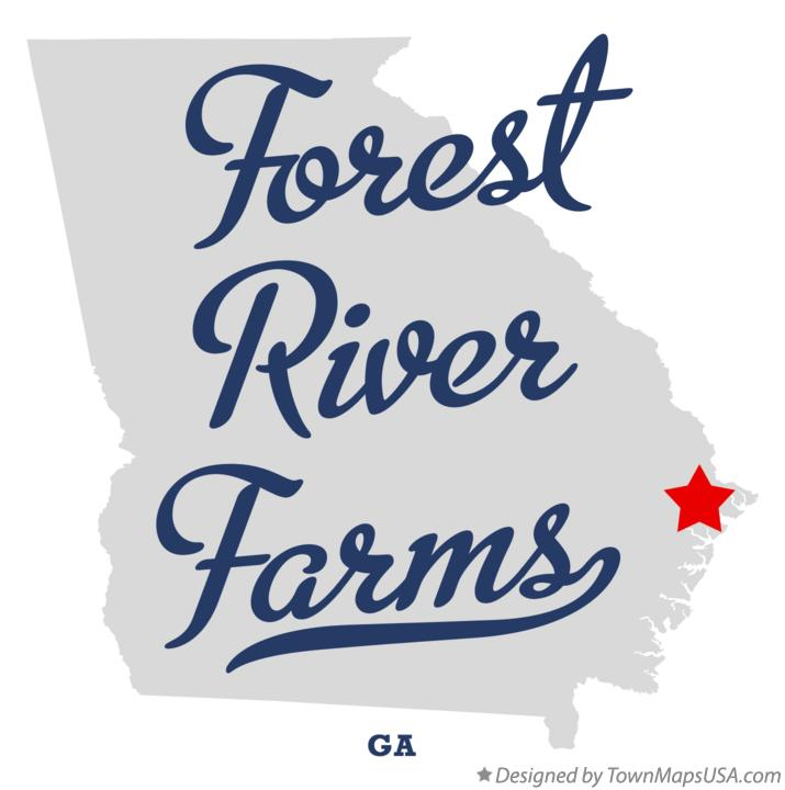 Map of Forest River Farms Georgia GA