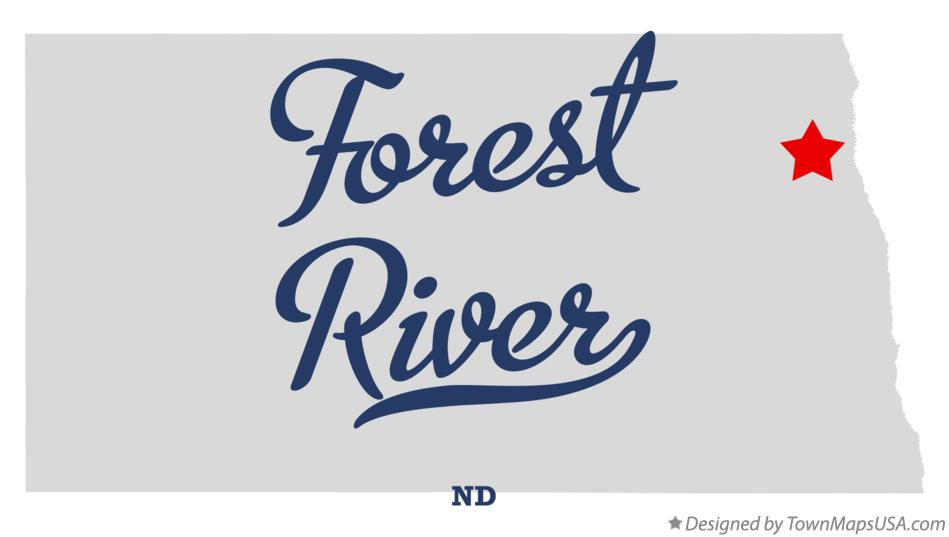 Map of Forest River North Dakota ND