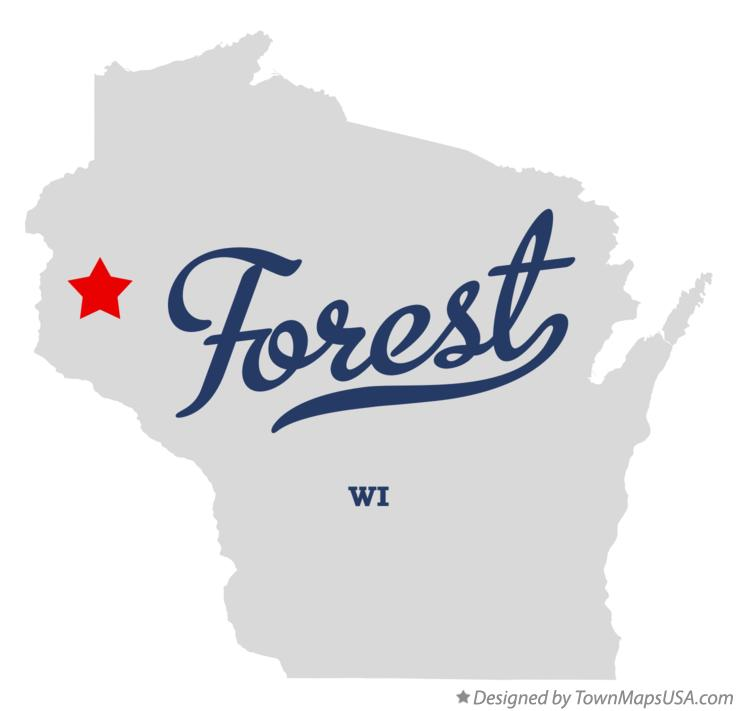 Map of Forest Wisconsin WI