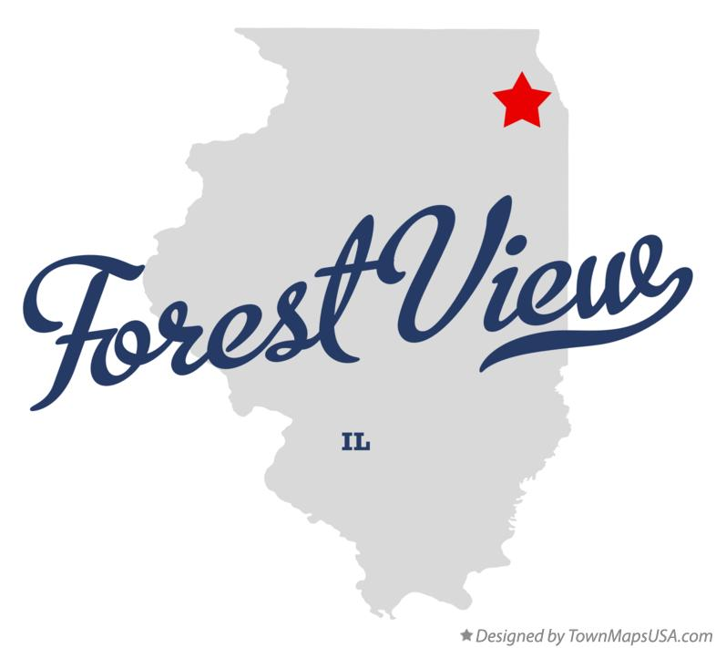 Map of Forest View Illinois IL